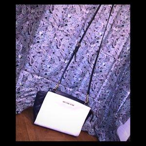 Michael Michael Kors White & Black Crossbody Bag